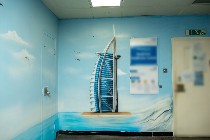 burj al arab mural blog