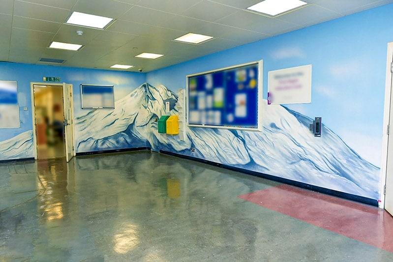 mount everest mural