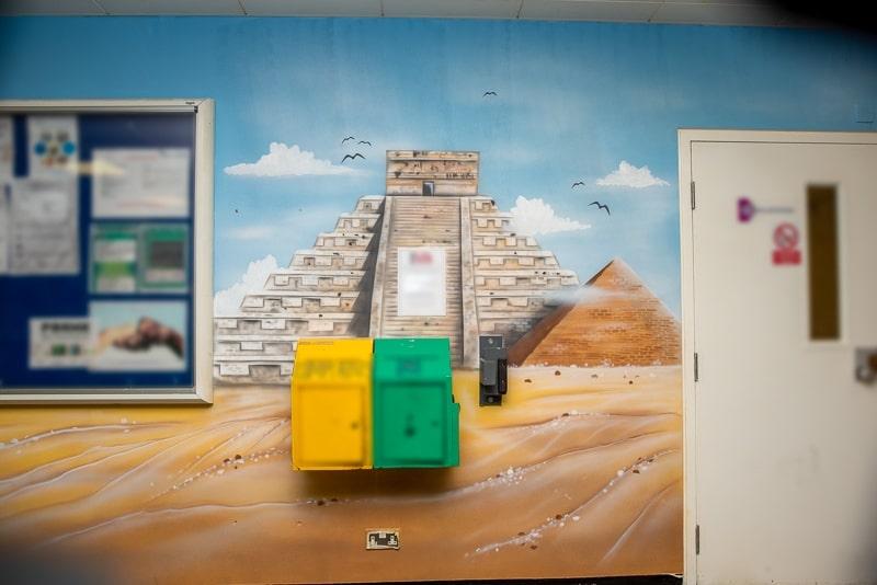 painted chichen itza mural blog