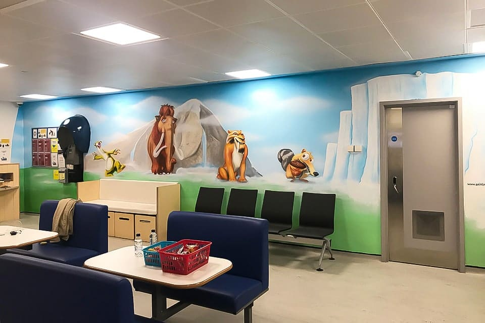 ice age wall mural