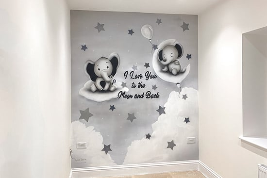 little elephants wall mural price