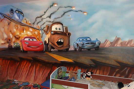 price Cars painted mural
