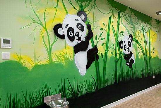 price Hand painted pandas nursery