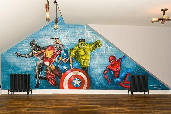 price Mural Avengers london