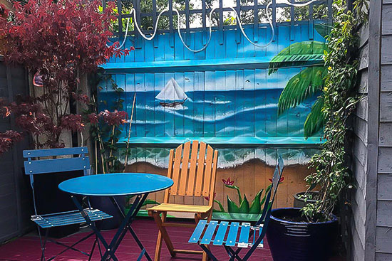 price garden mural