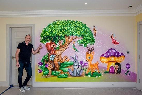 price mural artist fairy wall murals