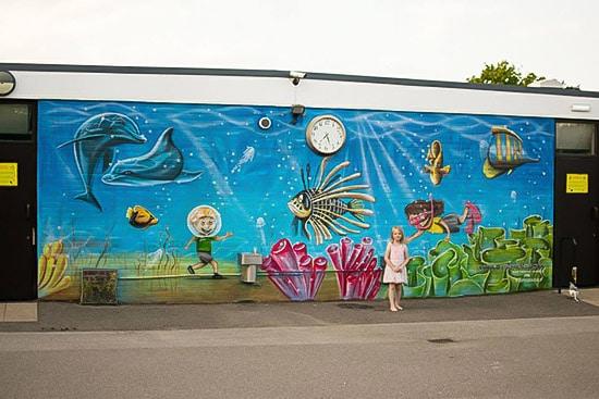 school mural price