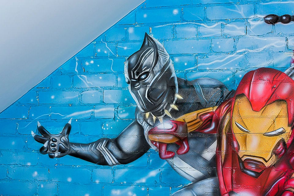 Avengers Black Panther Mural