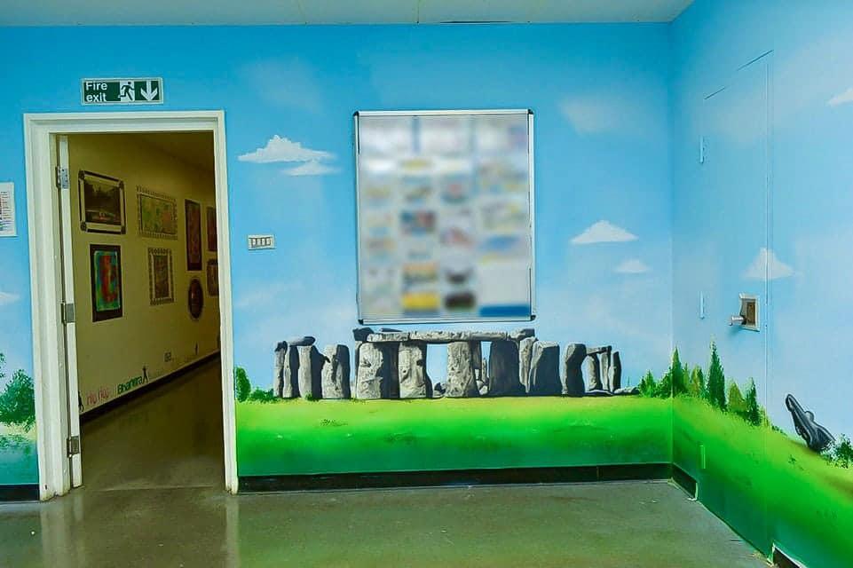 Stonehenge mural