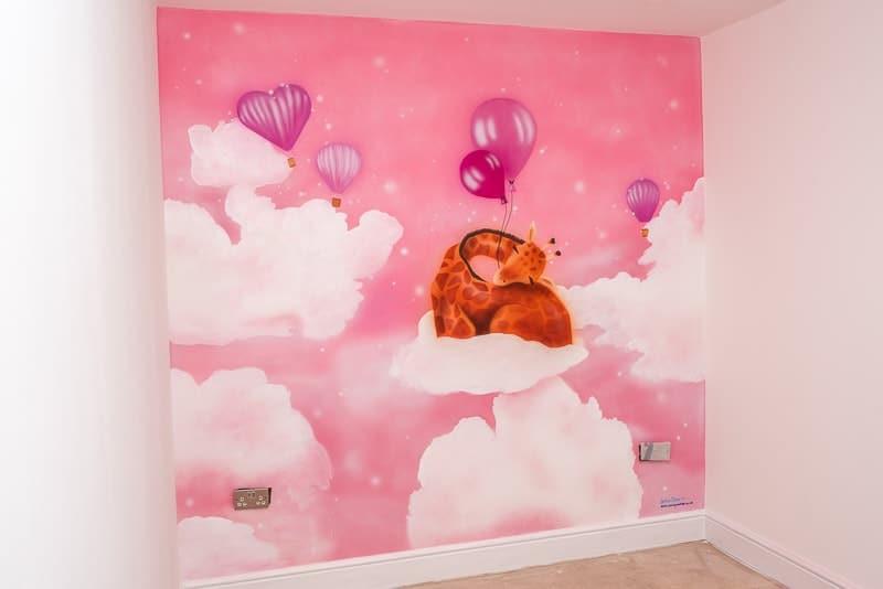 Giraffe mural offer for Baby room murals