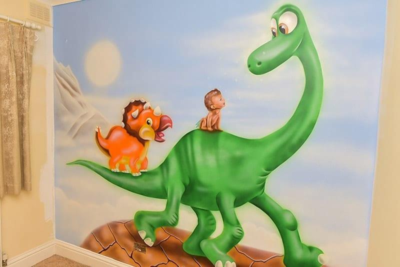Dino baby room murals