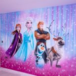Frozen mural painted on the wall