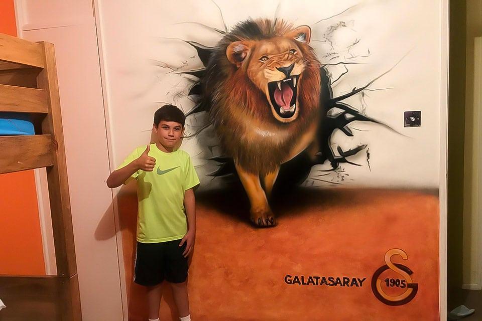 Lion Boys wall mural