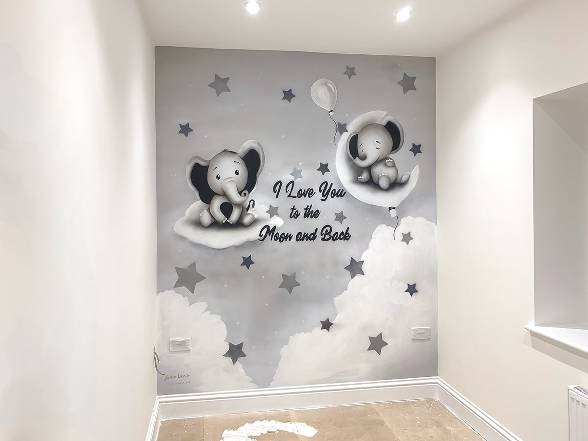 baby wall murals