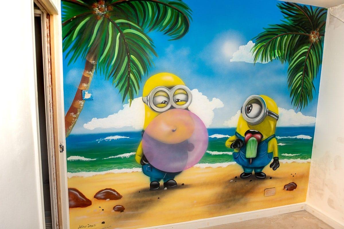 Minions kids wall mural