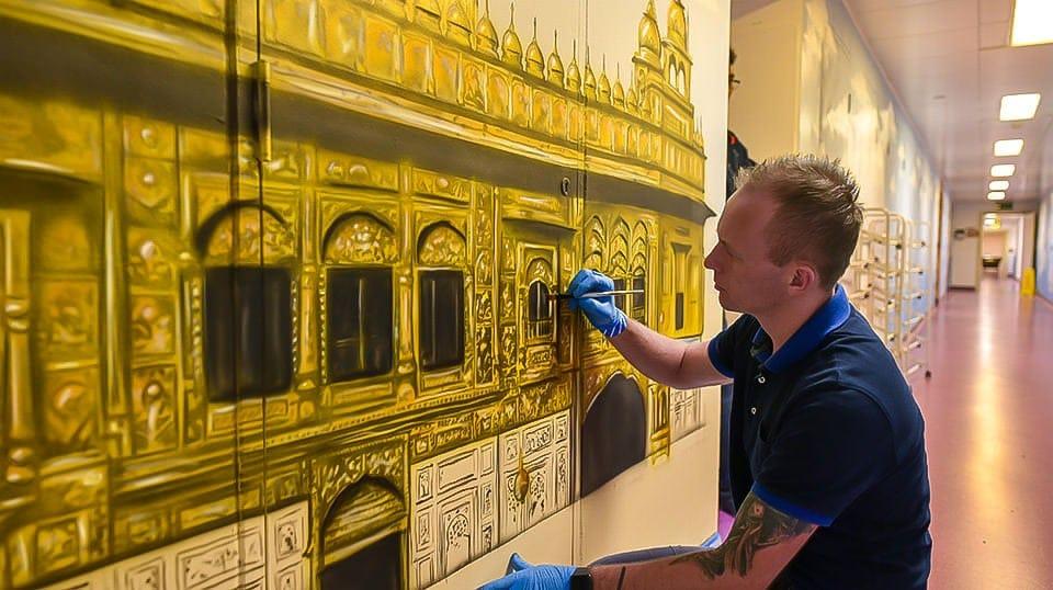 mural Sikh temple