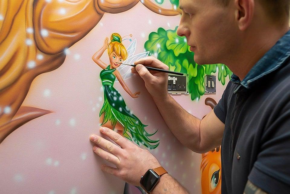 mural artist painting fairy walls murals 1