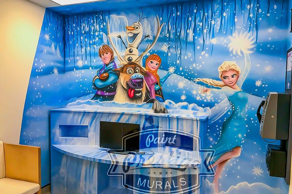 mural elsa frozen