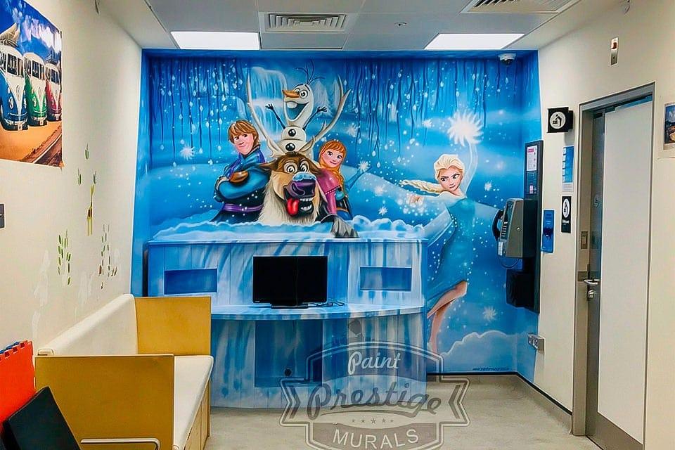 mural frozen elsa