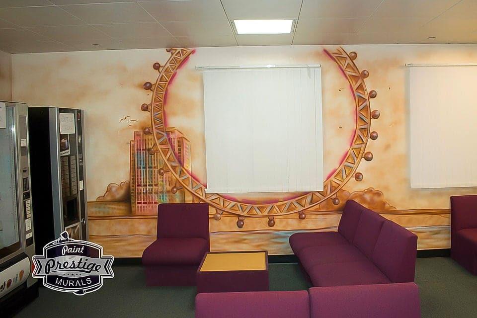 mural london eye