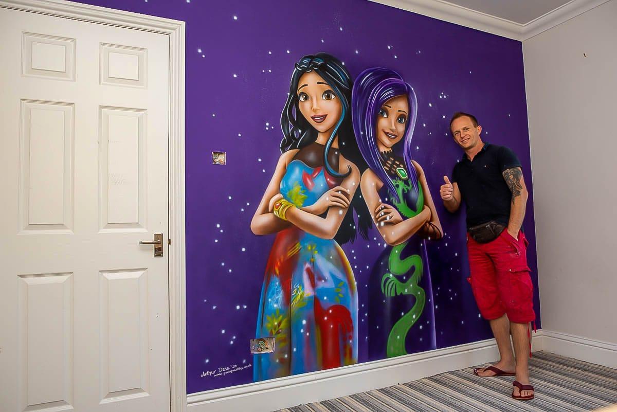 Descendants - Hand Painted Wall Mural