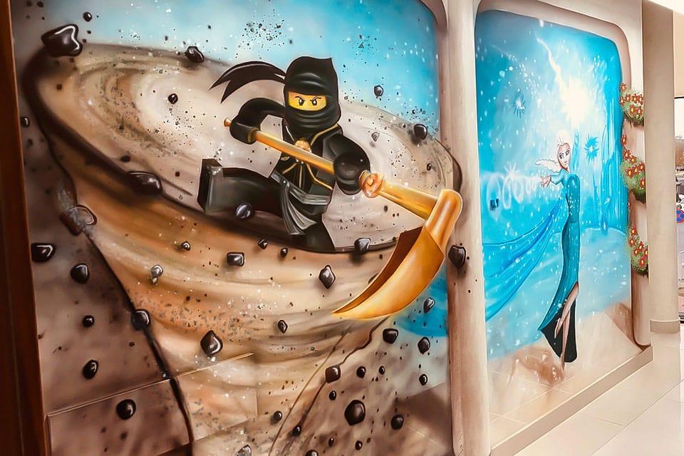 ninjago elsa mural