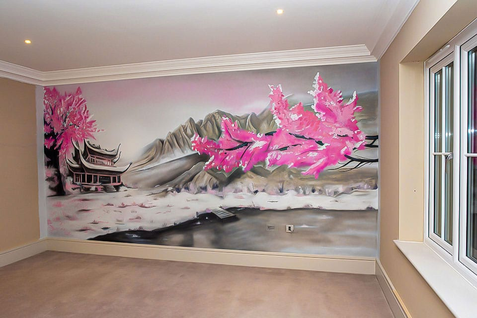oriental mural