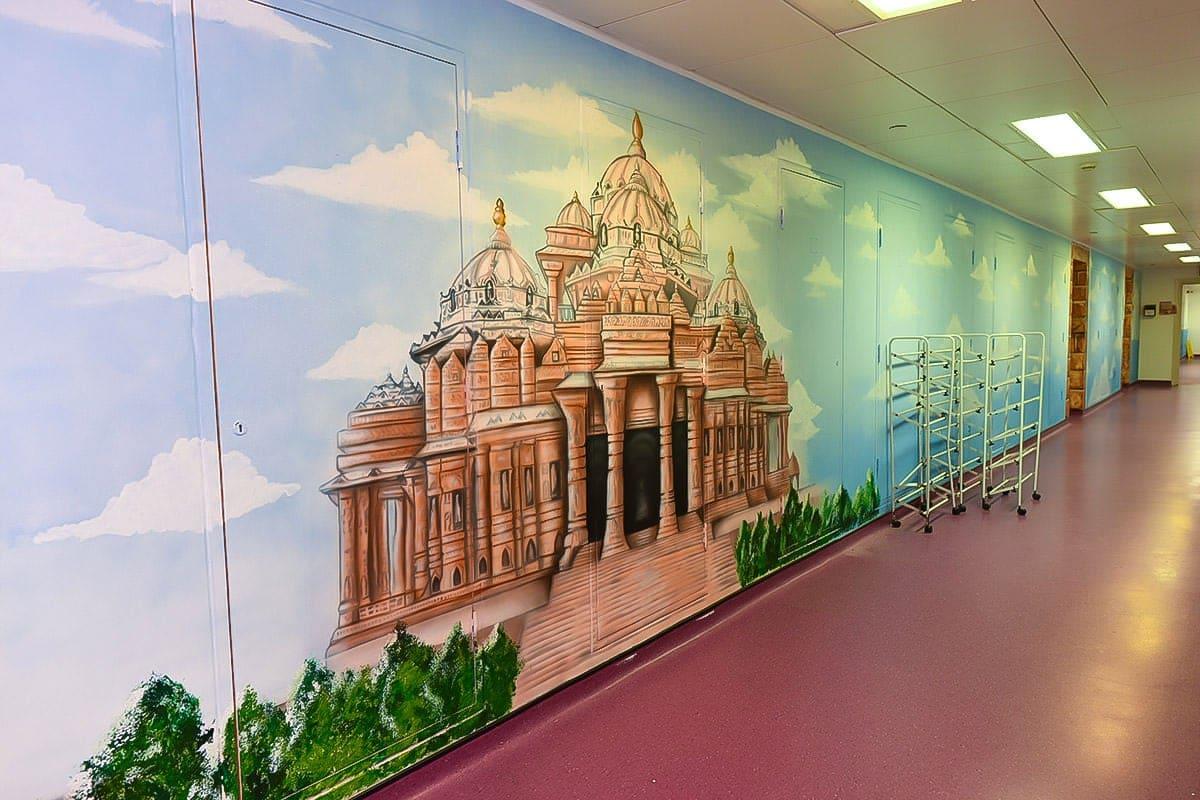 painted murals faith corridor full hindu temple 1