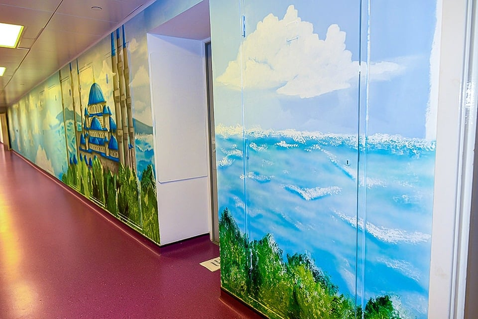 painted murals faith corridor full mosque wall