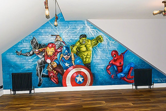 Boys bedroom mural