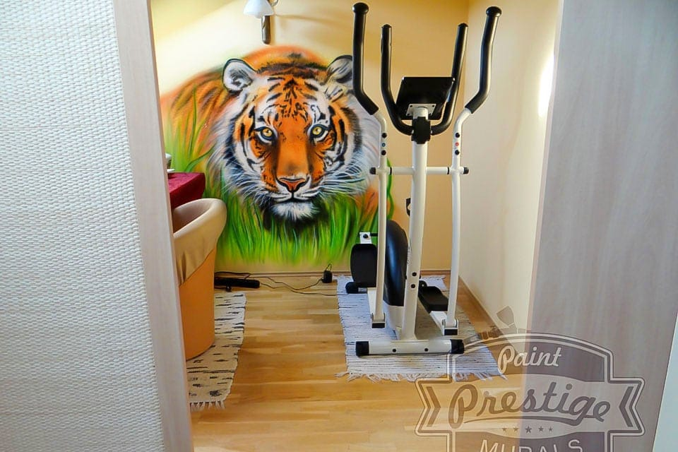 tiger hand painted