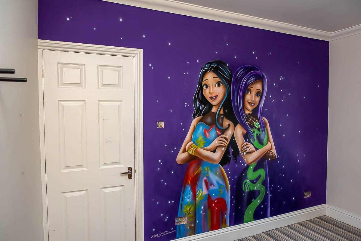 Hand Painted Girls Wall Murals - Descendants
