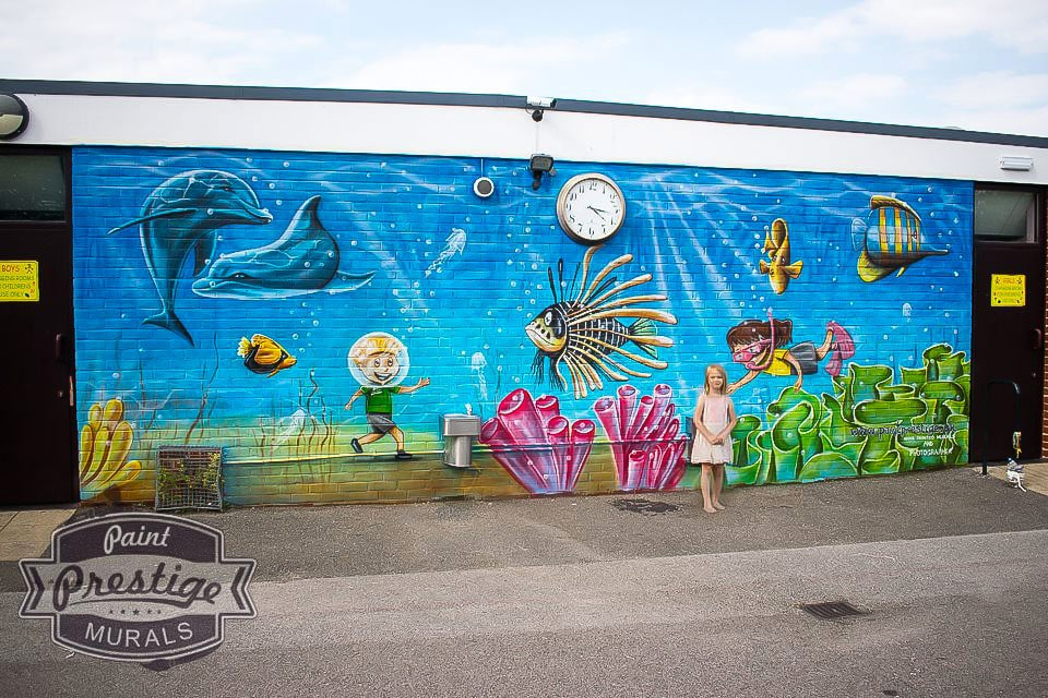 westlands school wall mural