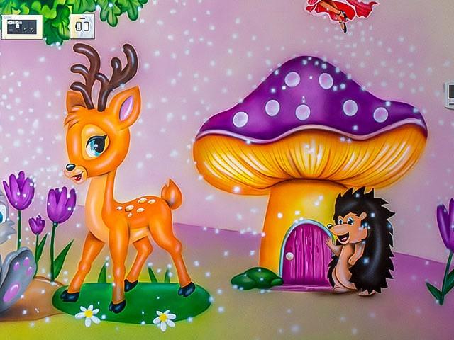 woodland fairy wall mural