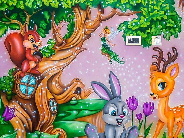 woodland fairy wall murals