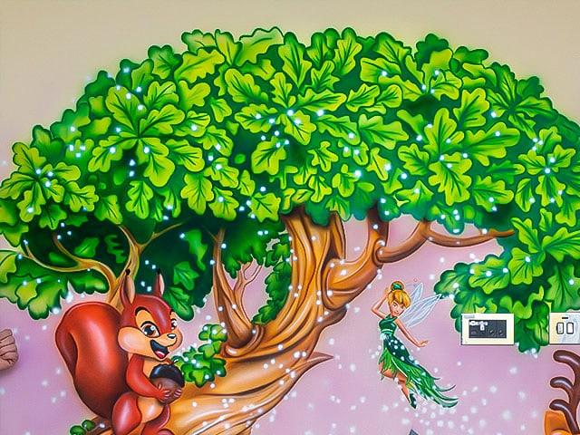 woodland fairy walls mural
