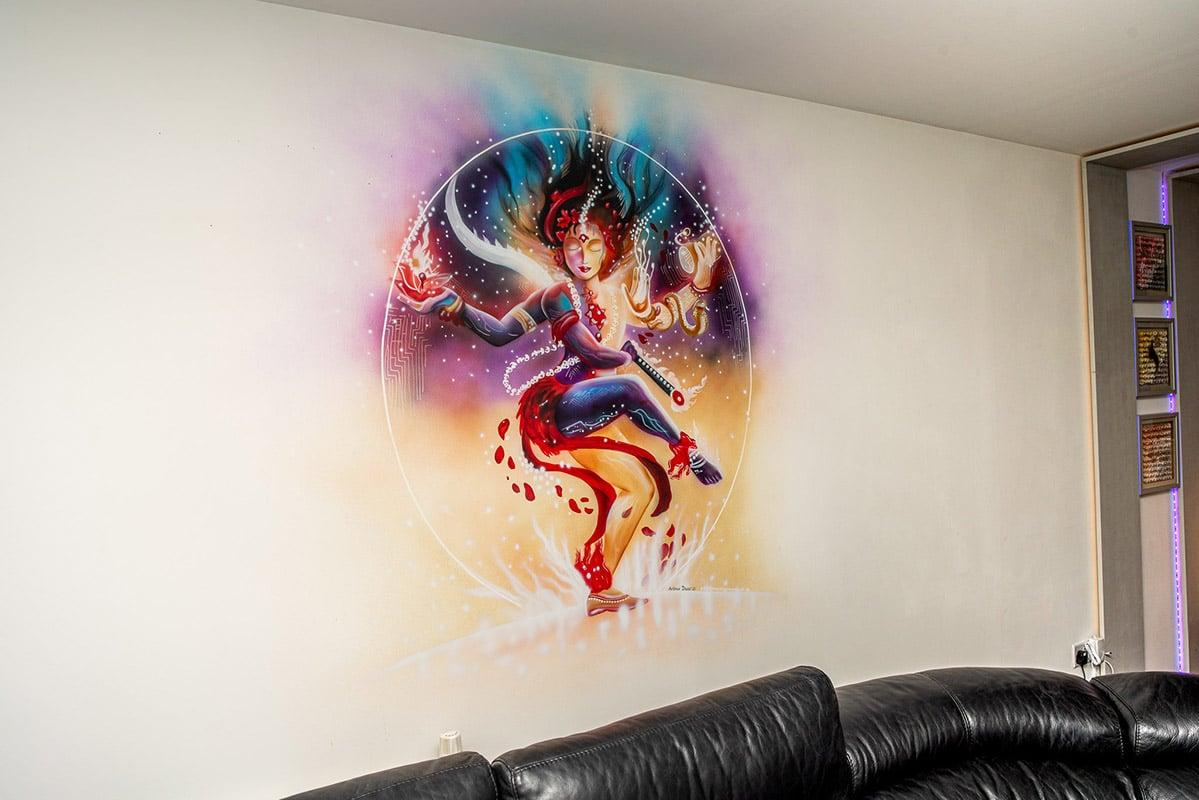 Hindu good mural